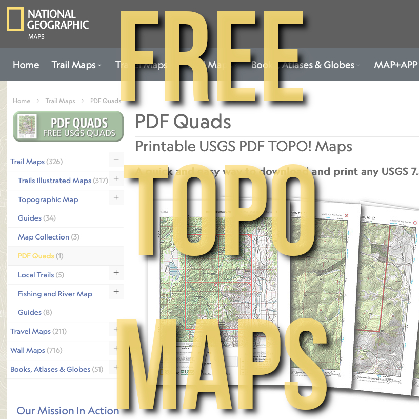FREE National Geographic Quadrangle Maps