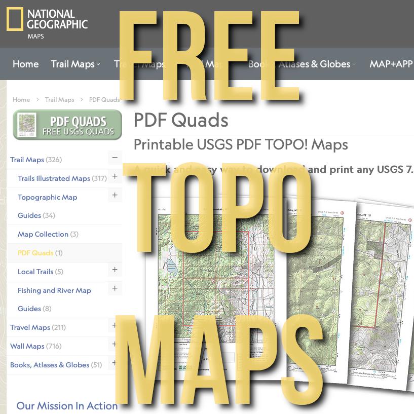FREE National Geographic Quadrangle Maps